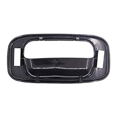 Tailgate Tail Gate Handle & Bezel for Chevy Silverado GMC Sierra 1999-2006 15997911 15228539 15228541 15228540 with Handle Rod Clip: Automotive