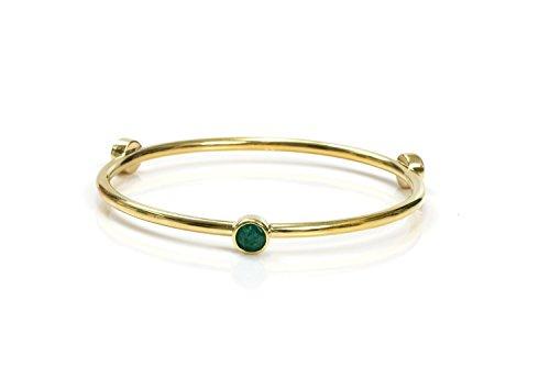 Gold bezel set bangle,gold bangle bracelet,agate bracelet,gemstone bracelet,triple bezel bangle,gold (Bezel Set Gemstone Bracelet)