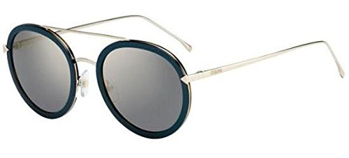 - Sunglasses Fendi Ff 156/S 0V59 Blue Gold/JO gray bronze mirror lens