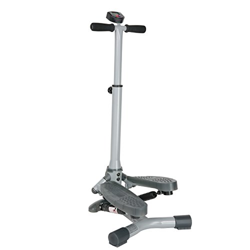 Sunny Health & Fitness SF S0637 Twist In Stepper Step Machine w/ Handlebar and LCD Monitor
