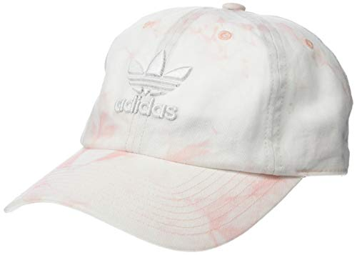 adidas Women's Originals Relaxed Adjustable Strapback Cap, Dust Pink/White, One Size