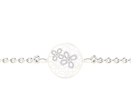 Libertini Bracelet argent 925 serti de Diamant en forme de Rond