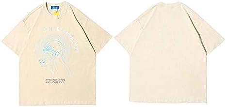 GVDFSEYL Hombres Hip Hop Camiseta Streetwear Personalidad múltiple Harajuku Camiseta Oversize Manga Corta Verano Camiseta Algodón Tops Tees: Amazon.es: Deportes y aire libre
