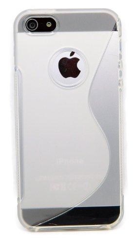 Kit Me Out FR® Mince Gel étui Coque House Case Cover [Anti Choc] pour Apple iPhone SE / 5S - Clair TransparentWith Cut Out pour Apple Logo