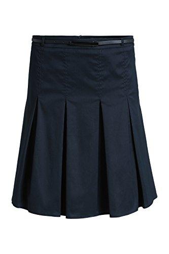 ESPRIT Collection Damen A-Linie Rock Faltenrock 995EO1D902 Blau (Dark Navy 420) Fhk7E4Zz