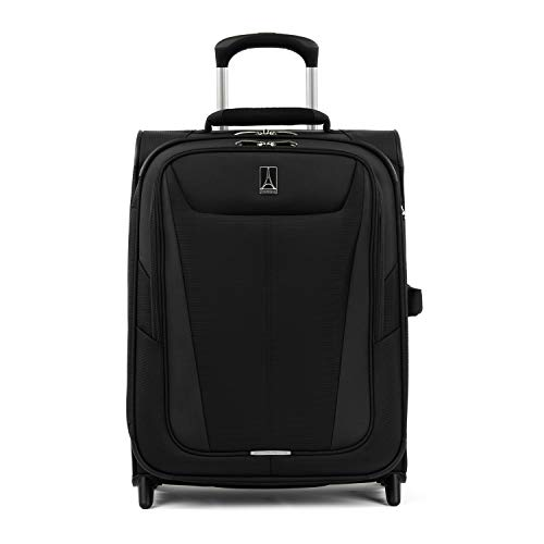 Travelpro Luggage Expandable International Carry-On, Black (Best Light Spinner Luggage)