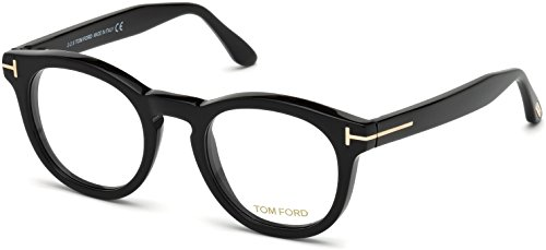 Tom Ford FT5489 Eyeglasses (001 - Shiny - Reading Men Glasses Tom Ford
