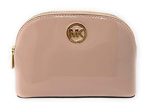 - Michael Kors Fulton Patent Leather Cosmetic Travel Pouch in Ballet
