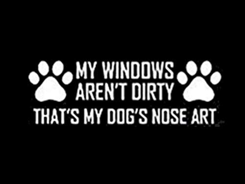 DesignsThatStick Dog Nose Art Vinyl Sticker Paw Print Decal 7 E86 Funny Wall Laptop Car Puppy Breeder Love Canine