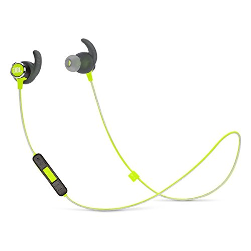 JBL Reflect Mini 2 Wireless in-Ear Sport Headphones with Three-Button Remote and Microphone - Green