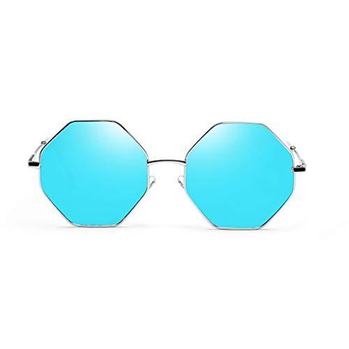 de Soleil à Couleur Protection soleil D de Lunettes Nouvelles octogonale de Sport Femme Lentilles colorées E lunettes Plage polygonale UV marée Des wqf5c8CgC