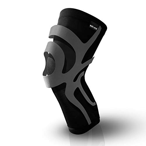 BODYVINES Ultra-Thin Compression Knee Sleeve for Men and Women, Flexible Knee Brace. Designed for Running, Basketball, Ball Sports, Workout, Weightlifting