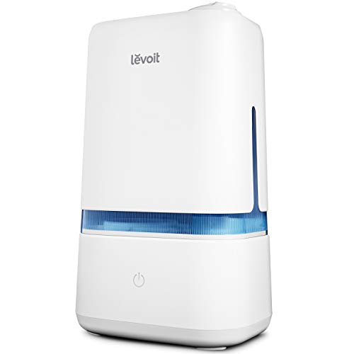 LEVOIT Humidifiers for Bedroom, 4L Ultrasonic Cool Mist Humidifier for Large Room Babies, Air Humidifier with Essential Oil Tray, Quiet Operation, Auto Shut-Off, Lasts up to 40 Hours, 2-Year Warranty