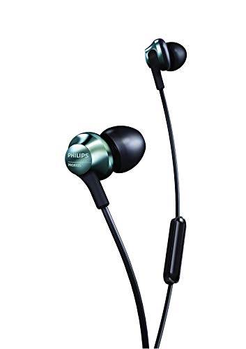 Philips Performance PRO6105 Wired Earphones with Mic, Hi-Res Audio – Black