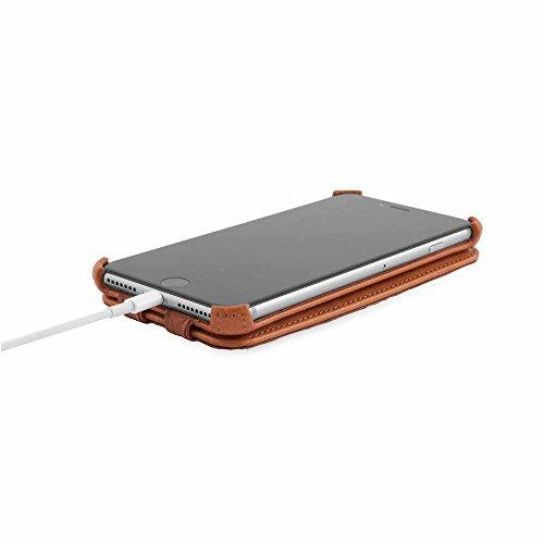 Zaprado Apple iPhone 7 exklusive Ledertasche Hülle aus brasilianischem Echtleder Tasche, COLOR:Karamell Braun