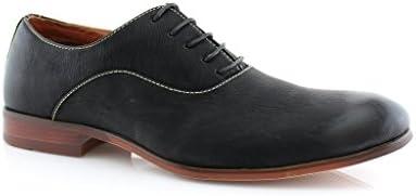 Ferro Aldo Men's 139255 Classic Almond Toe Lace Up Dress Oxfords Formal Shoes