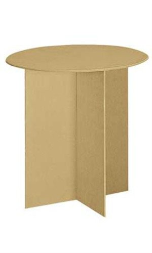 New Retails Round Display Table with Wood Finger Groove Legs 30''Dia. X 29 7/8''H