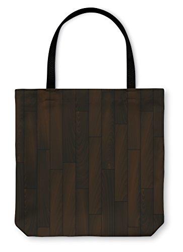 Gear New Shoulder Tote Hand Bag, Dark Wooden Floor Realistic, 18x18, 23530GN