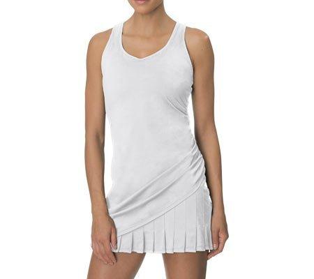 Fila Women's Goddess Wrap Pleat Dress,White,US S - Goddess Pleats Wrap