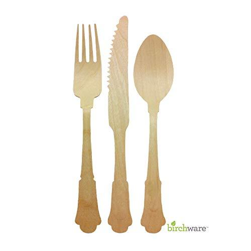 Birchware WDC-200-A-12 Elegant - Compostable Utensils, 12 Count, -