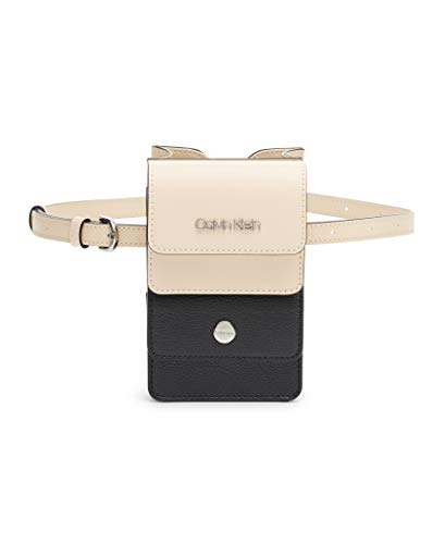 Calvin Klein Tonya Calf Leather Belt Bag, Sand/Black