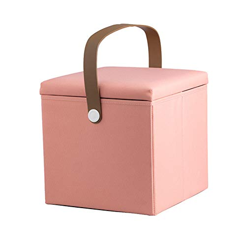 Softneco Car Trunk Storage Organizer, Multi-Function Durable Big Capacity fodable Portable Cargo Groceries Container bin Box with Handles-Pink - Cube Organizer Trunk
