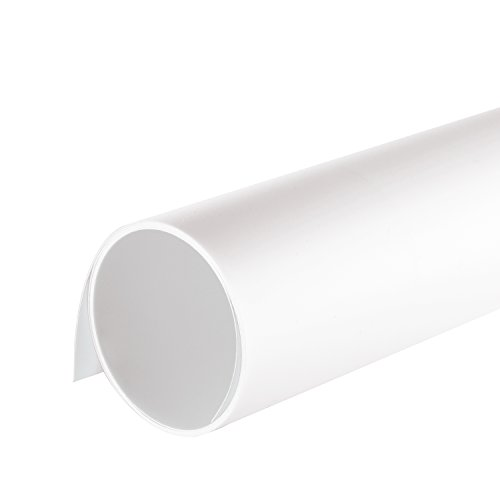 Neewer 16x30(40x75cm) Seamless PVC Backdrop Background Paper for Photo Video Photography Studio - White