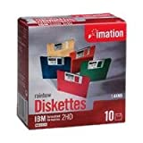 Imation 3.5IN HD 1.44MB Preformatted IBM Diskettes (10-Pack) (Discontinued by Manufacturer)