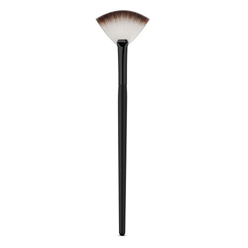 LyDia® Small Black-White Fan Cheek Blusher /Blending/Face n Body Contour/Highlighter/Bronzer/Dust Makeup Brush LyDia Beauty