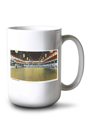 - Hampton Beach, New Hampshire - Interior View of The Casino Ball Room (15oz White Ceramic Mug)