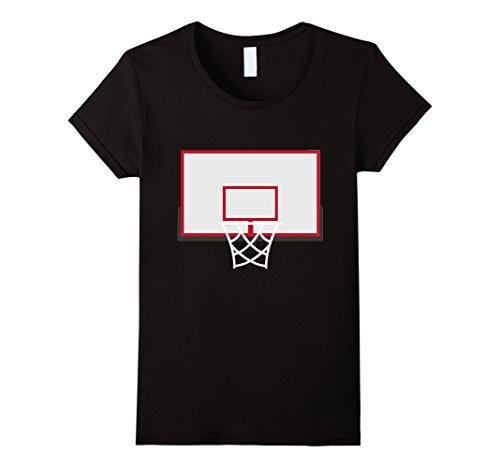 [Womens Basketball Backboard With Hoop Costume Shirt Rim Dunks Medium Black] (Basketball Womens Costume)