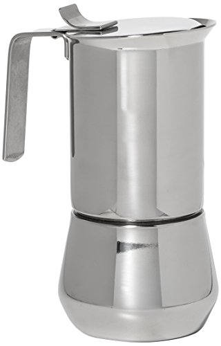 ILSA 122-3, Stainless Steel Stove-Top Espresso Maker, 3- cup - Ilsa Stainless Steel
