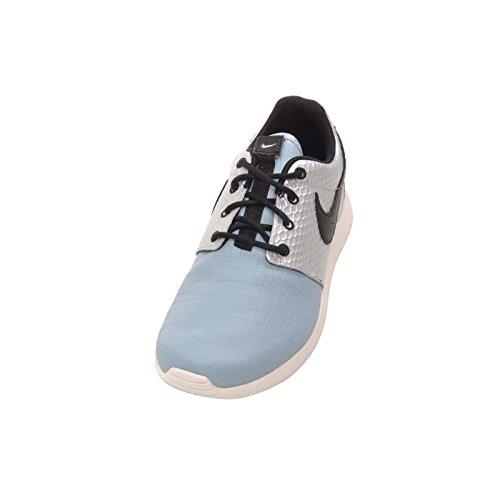 Nike Wmns Roshe One Lx Moda Donna Sneakers 881202 Argento Metallizzato / Nero-mica Blu-avorio
