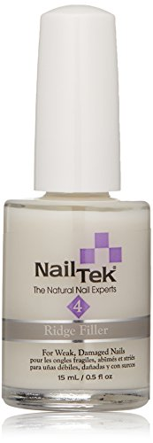 Nailtek Foundation Xtra Ridge-filling Nail Strengthener Base Coat, 0.5 Fluid Ounce