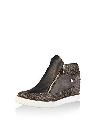 Ana Lublin - JENNY Women's Wedge Sneakers High Top Heel Height: 7 cm Blu