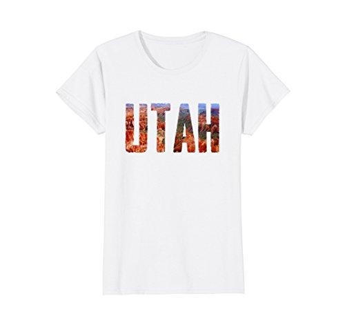Womens Cool Design  Utah T Shirt Medium White