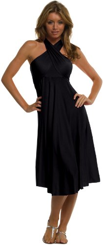 An Elan Usa Beautiful Sexy Summer Convertible Dress/Skirt (RL407) (LARGE, Black)
