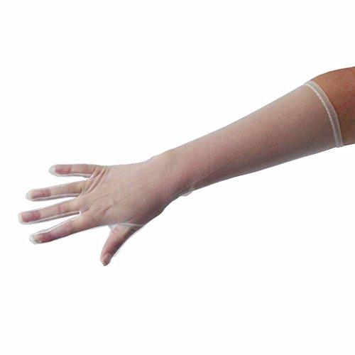 (Sheer Elbow Length Gloves, White)