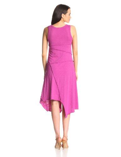 Mod-O-Doc Women's Slub Jersey Hanky Hem Raw Edge Seamed Dress