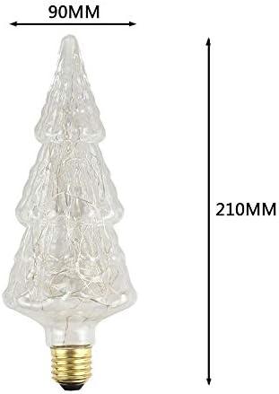 Farbwechsel Farbige Leuchtmittel Lumen Leuchtmitteledison-Birnen-Led Weiches Faden-Flammen-Geformte Geformte Birnen-Hotel-Kaffeestube-Dekorative Lichtquelle 220V 4W