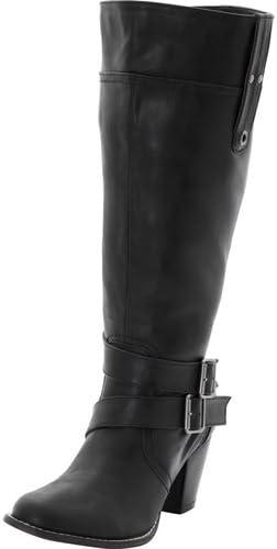 Sheego Grande Taille, Femme, XL de weitschaft Bottes Noir