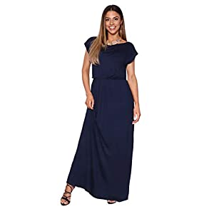 KRISP Womens' Long Casual Loose Dress Short Sleeve Or Sleeveless Maxi