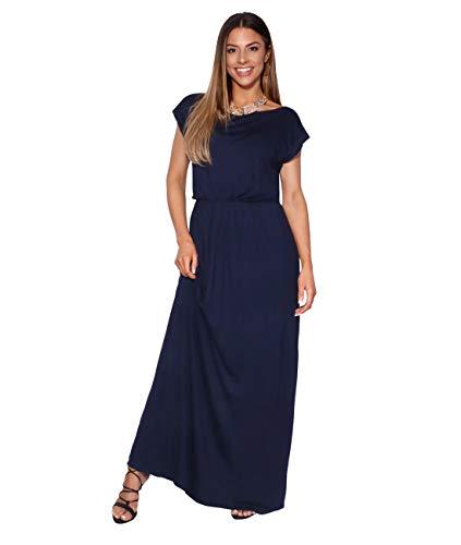 3269-NVY-18: KRISP Maxi Dress,Navy,UK 18/US ()