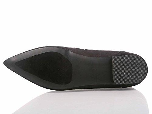 Mote Spiss Tå Gladiator Lisse Opp Ankelhøyde Womens Leiligheter Faux Suede Shoes Nye Uten Boks Sort