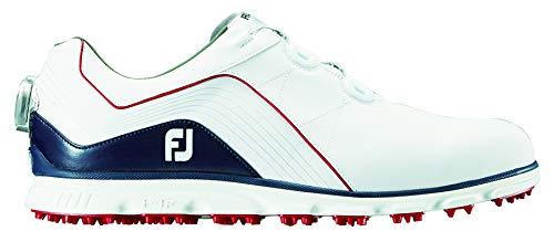 [フットジョイ] ゴルフスパイクレス PRO SL BOA 53290 メンズ 27.5 cm ホワイト/ネイビー/レッド2018モデル B07KB6F461