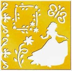(Disney Princess Brass Stencil - 46626 - Snow White)