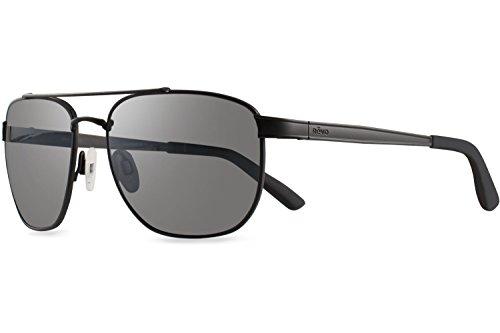 Revo Re 1046 Archer Crystal Lenses Polarized Rectangular Sunglasses, Satin Black Graphite, 57 - Revo Lense