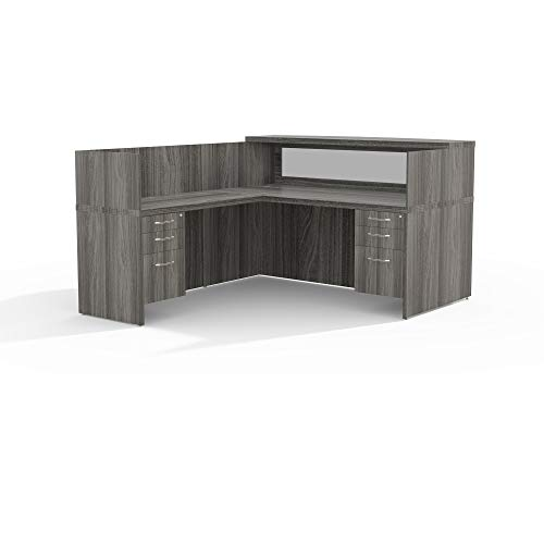 (Safco Products Mayline Aberdeen Series Typical 36 Reception Desk,)