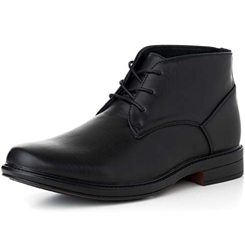 alpine swiss S308 Men's Leather Lined Dressy Ankle Boots, Black, -