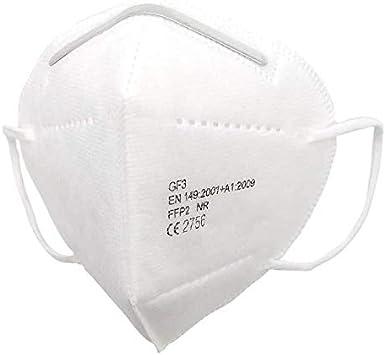 Mascarilla EPI GF3- Mascarillas de Protección Personal FFP2 NR 95% de efectividad, Filtración Multicapa, 4 Capas, Talla Única, Paquete de 10